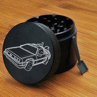 California Sea // 4 Piece Herb Grinder - Back to the Future BTF Delorean
