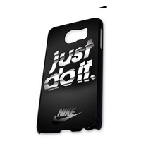 Black Nike Stripe Just Do It Samsung Galaxy S6 Case