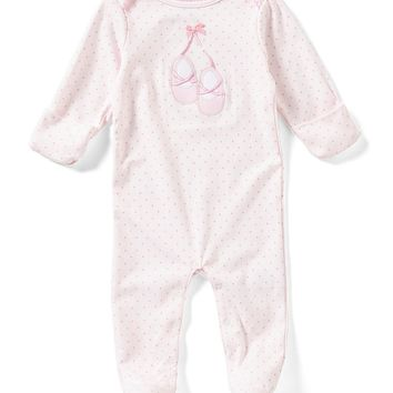 Starting Out Baby Girls Newborn-6 Months Ballet Polka-Dot Footed Coverall | Dillards