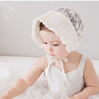 Floral Lace Breathable Palace Hat Princess Hat for Baby