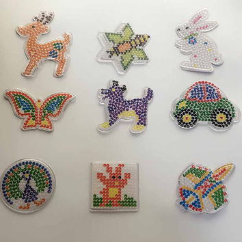 Puzzle or 5mm Hama Perler Beads Pegboards Patterns with colored paper F DIY Kids Craft Plastic Stencil child fuse bead Toys