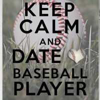 iPhone 4/4s Case, Keep Calm and Date a Baseball Player