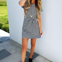 Can't Say No Dress: Black/White