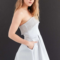 Keepsake Northern Lights Strapless Beaded Fit + Flare Mini Dress - Urban Outfitters