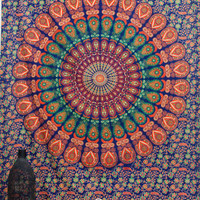 Mandala Tapestry Hippie Wall Hanging Twin Tapestries Bedding Bed Cover Bedspread