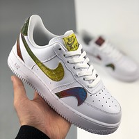 Nike Air Force No. 1 Fashion Men's and Women's Sneakers Gradient Double Hook Low Top Casual Sports Shoes