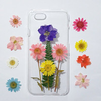 Clear iPhone 5s Case, iPhone 5 Case Clear, Pressed Flower iPhone 5s Case, samsung galaxy s6 case, s5 case, pressed flower note 3 case,