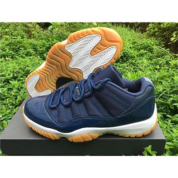 Air Jordan 11 Low Navy Gum Basketball Shoes