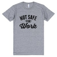 Nsfw-Unisex Athletic Grey T-Shirt