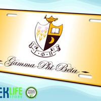 Gamma Phi Beta Car License Plate