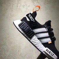 ADIDAS NMD R1 x OFF-WHITE BLACK/WHITE