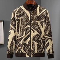 """Louis Vuitton"" LV Trending Stylish Long Sleeve Zipper Cardigan Sweatshirt Jacket Coat Windbreaker Sportswear Coffee I-A00FS-GJ"