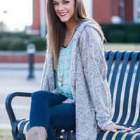 Here's A Story Cardigan, Taupe