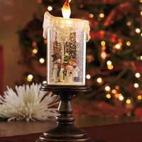 Lighted Snowman Candle Globe, Flameless LED