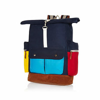 NAVY BELLFIELD COLOR BLOCK BACKPACK