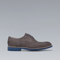 GREY BROGUES - Shoes - Man - ZARA United States
