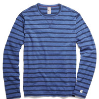 Long Sleeve Stripe Tee in Washed Royal