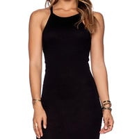 Daftbird Low Back Dress in Black
