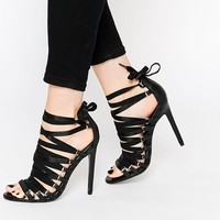 ASOS NIGHT HALLUCINATION Lace Up Heeled Sandals