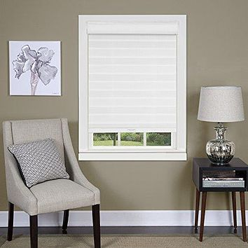 Ben&Jonah Collection Cordless Celestial Sheer Double Layered Shade 30x72 - White
