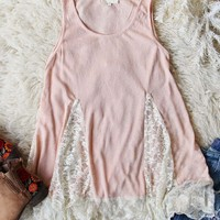 Sugarplum Lace Layering Tank