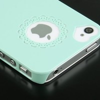 Pandamimi Dexule Cute Girls Ultra-thin Ice Cream Glossy Hard Case Cover for iPhone 4, 4S - Mint Green:Amazon:Cell Phones & Accessories