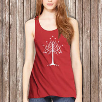 Lord of The Rings White Tree Gondor Women Tanktop - tri1 Tanktop For Women  / Custom - Tanktop / Women Tanktop