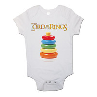 Lord Of The Rings Funny Personalised Baby/Toddler Vest Newborn Gift - Bodysuit