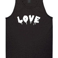 Kings Of NY Love Goth Blood Font Hate Tank Top T-Shirt