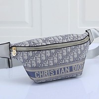 Christian Dior embroidered letters men's and women's messenger bag waist bag