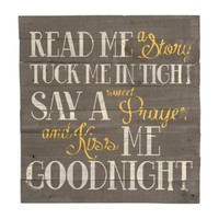 Read Me a Story Wooden Plaque