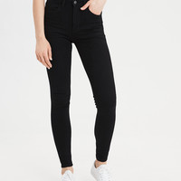 AE Ne(X)t Level 360 Super High-Waisted Jegging, Onyx Black
