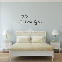 P S I Love You Valentines Day Vinyl Wall Decal 22498