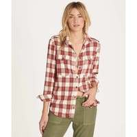 Billabong Women's Venture Out Long Sleeve Flannel Shirt | Sienna