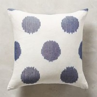 "Ink Drop Pillow by Anthropologie in Blue Size: 18"" X 18"" Pillows"
