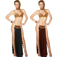 2016 Sexy New Carnival Women Star Wars Cosplay Party Halloween Costumes Sexy Princess Leia Slave Costume