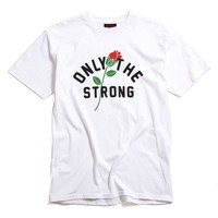 Only The Strong T-Shirt White