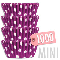 Mini Purple Polka Dot Baking Cups 1000