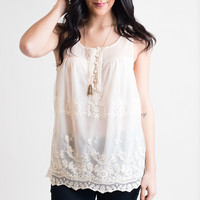 Sheerly Floating Ivory Top