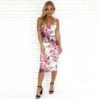 Budding Romance Floral Midi Dress