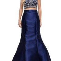 Two piece long prom dress dq9831