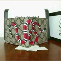 2017 new Men Gucci GG Monogram Snake Leather Wallet ,,,,