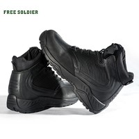 FREE SOLDIER Outdoor Sports Tactical Boots Military Men's Boots For Autumn-winter Warmth For Hiking Climbing