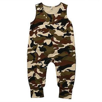 Toddler Infant Baby Boy Girl Camouflage Romper born Baby Clothes Sleeveless Sunsuits Outfits Jumpsuit 0-18M