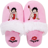 Betty Pink (Leg Kick) Slippers with Fur Trim  Your favorite online gift shop!
