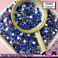 5mm 200 pcs DARK BLUE RHINESTONES Flatback  / Decoden Crystal Phone Deco