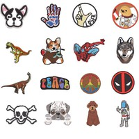 2018 Top Fashion Parches Spiderman Wolf Dog Iron On Clothes Deadpool Patches For Clothing Stickers Garment Apparel Accessories