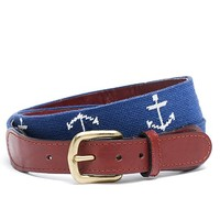 Anchor Needlepoint Belt - Brooks Brothers