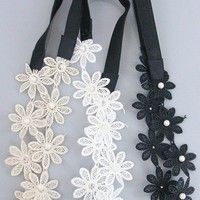 Floral Lace Headband - Set of 3