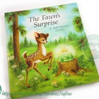 The Fawn's Surprise: A Birthday Story Vintage Hallmark Gift Book Hardcover with Dust Jacket 1970